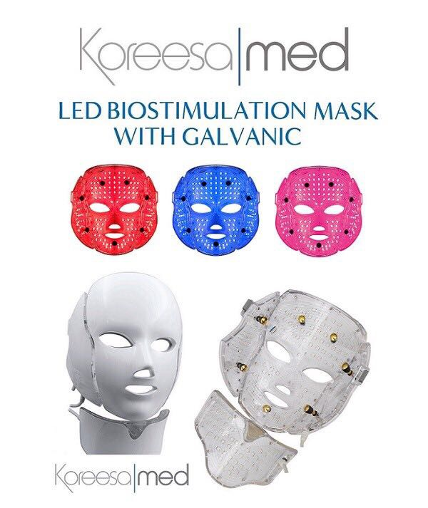 Koreesa Med LED Biostimulating Mask with Galvanic